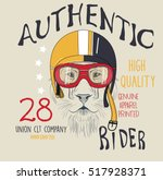 handmade font motorcycle race t ... | Shutterstock .eps vector #517928371
