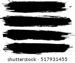 set of grunge lines. isolated... | Shutterstock .eps vector #517931455