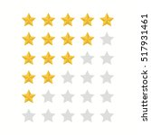 rating stars.gold star icon set ... | Shutterstock .eps vector #517931461