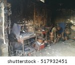 Small photo of old coppersmith's shop and blacksmith