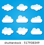 illustration of clouds design...   Shutterstock .eps vector #517938349