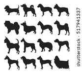 collection of dogs silhouette | Shutterstock .eps vector #517941337