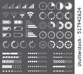 pre loader battery indicator... | Shutterstock .eps vector #517942624