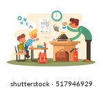 chemistry lesson in classroom | Shutterstock .eps vector #517946929