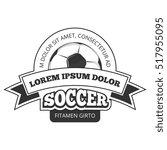 soccer logo  badge template... | Shutterstock . vector #517955095