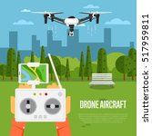 drone technology banner with... | Shutterstock .eps vector #517959811