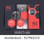 hexagon elements a4 document... | Shutterstock .eps vector #517962115