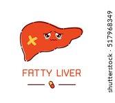 fatty liver awareness poster... | Shutterstock .eps vector #517968349