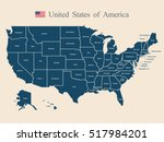 usa map | Shutterstock .eps vector #517984201