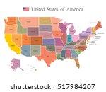 usa map   Shutterstock .eps vector #517984207