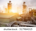 refinery oil and gas industry | Shutterstock . vector #517984315