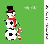 snowman football with a text  ... | Shutterstock .eps vector #517992235