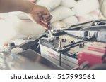 car service  fitting a car... | Shutterstock . vector #517993561