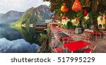 summer cafe on the beautiful... | Shutterstock . vector #517995229