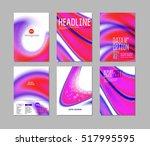 abstract backgrounds vector set ...   Shutterstock .eps vector #517995595