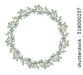 wreath border frame with summer ... | Shutterstock . vector #518000257