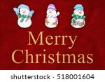 merry christmas greeting  red... | Shutterstock . vector #518001604