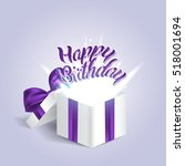 opened realistic gift box with...   Shutterstock .eps vector #518001694