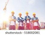 business  building  teamwork... | Shutterstock . vector #518002081