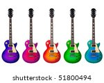 five beautiful electric guitars ... | Shutterstock . vector #51800494