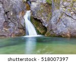 ourlia waterfalls near dion... | Shutterstock . vector #518007397