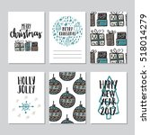 vector set of hand drawn of... | Shutterstock .eps vector #518014279