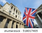 british union jack flag flying... | Shutterstock . vector #518017405