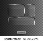 glass plates. vector... | Shutterstock .eps vector #518019391