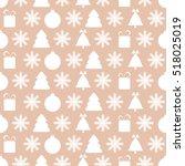 christmas background. seamless... | Shutterstock .eps vector #518025019