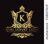 luxury logo | Shutterstock .eps vector #518037619