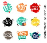 flat design sale stickers.... | Shutterstock .eps vector #518044231
