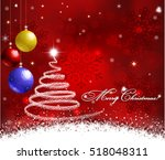 christmas background with... | Shutterstock .eps vector #518048311