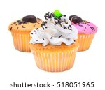 Colorful Of Mini Tasty Cupcake...