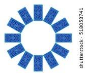 tarot cards by reverse side... | Shutterstock .eps vector #518053741