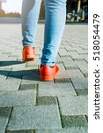 woman jeans and shoes | Shutterstock . vector #518054479