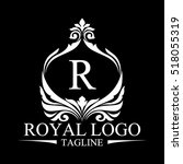royal logo | Shutterstock .eps vector #518055319