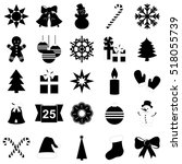 set of christmas and new year... | Shutterstock .eps vector #518055739