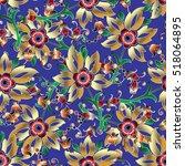 floral seamless pattern. modern ... | Shutterstock .eps vector #518064895