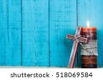 Cross Of Jesus Resting Against...