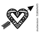 heart cartoon with arrow icon...