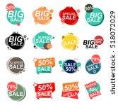flat design sale stickers.... | Shutterstock .eps vector #518072029