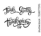 hand drawn thanksgiving... | Shutterstock .eps vector #518077591