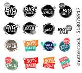 flat design sale stickers.... | Shutterstock .eps vector #518078917