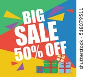 big sale fifty percent  | Shutterstock .eps vector #518079511