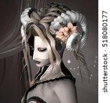 zodiac series   capricorn as a... | Shutterstock . vector #518080177
