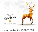 merry christmas and happy new... | Shutterstock . vector #518081854