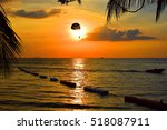 playing parachute beside the sea | Shutterstock . vector #518087911