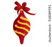isolated christmas ornament... | Shutterstock .eps vector #518089591