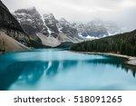 moraine lake  banff national... | Shutterstock . vector #518091265