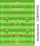 soccer or football pitch top... | Shutterstock .eps vector #518091931